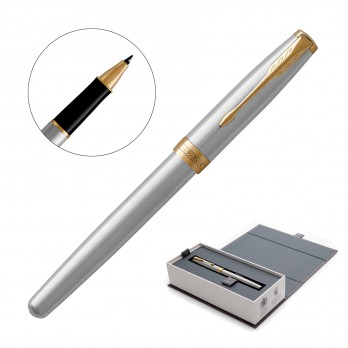 Metal Pen Rollerball Parker Sonnet - Brushed Stainless GT