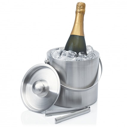 Ice Bucket Stainless Double Wall Contemporary