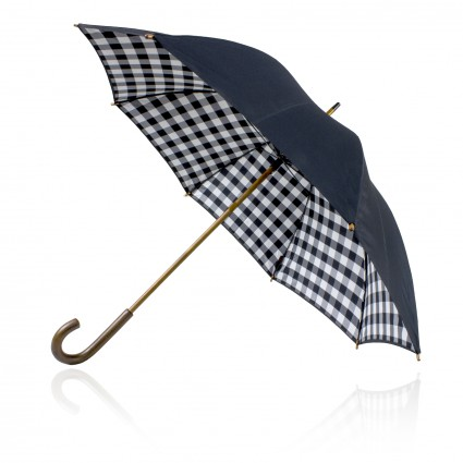 Umbrella 58cm Double Canopy Shelta Black Check